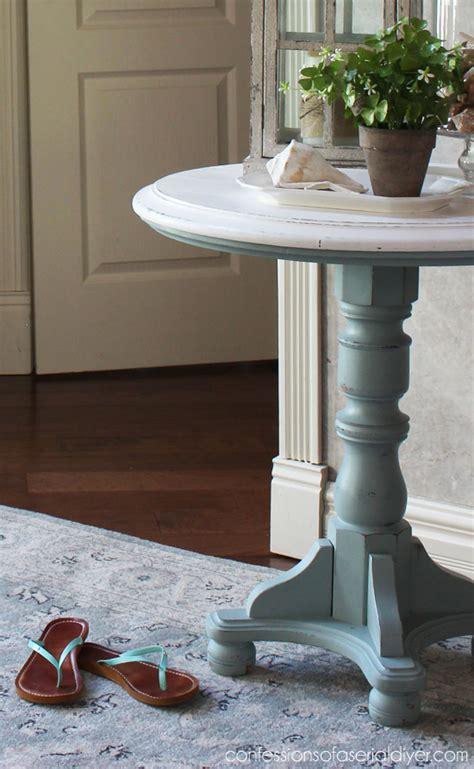 diy chalk paint with behr coastal pedestal table confessions of a serial do it