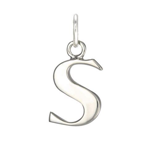 sterling silver alphabet sterling silver alphabet letter s charm