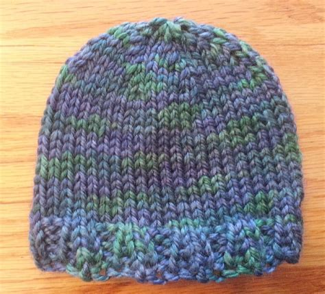 easy knit beanie simple beanie knitting pattern by gonzales knitting
