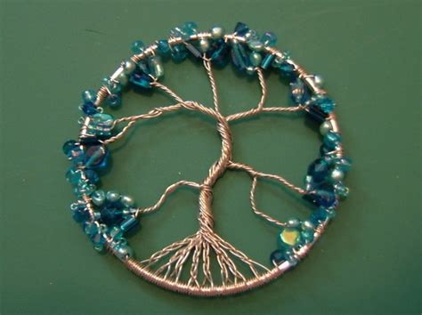 beaded wire tree tutorial wire wrapped tree of ornament 183 how to make a wire