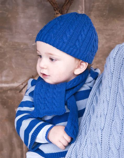 baby boy knitted hats baby boys cable knit hat and scarf gift set by toffee moon