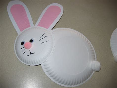 easter bunny paper plate craft lucky me paper plate easter bunnies