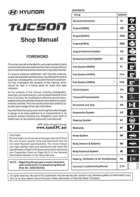 service manual pdf 2006 hyundai tucson workshop manuals 2007 hyundai tucson shop manual service manual repair manual download for a 2012 hyundai tucson hyundai tucson technical