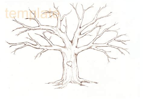 large tree template family tree template family tree thumbprint template