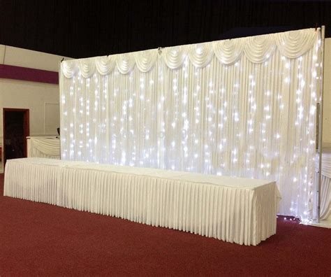 drapes and lights for weddings pipe and drape 3 6m wedding backdrop wedding curtain