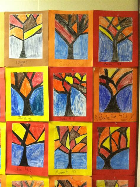 4th grade craft projects abstract trees fourth grade 4th grade