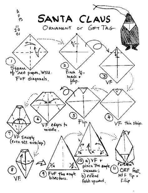 how to fold santa claus origami origami viejo pascuero cuboplano