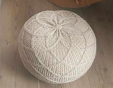 knitted ottoman pouf pattern best 25 knitted pouf ideas on knitted pouffe