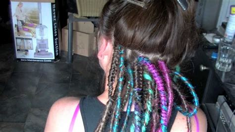 how to put dread on professional synthetic dreadlock install hd rivet licker