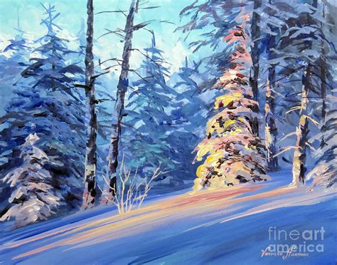 acrylic painting winter winter light 2 painting by varvara harmon