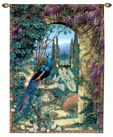 secret garden wall the secret garden peacock picture tapestry wall hanging ebay