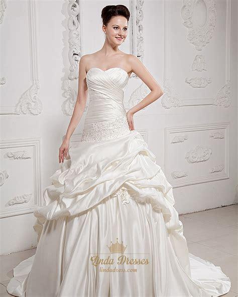 beaded ivory dress ivory sweetheart satin aline ups wedding dress with