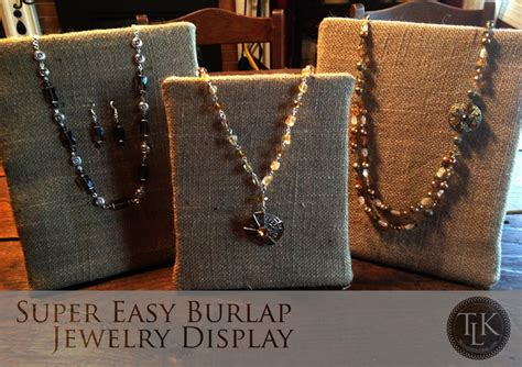 how to make a jewelry display easy burlap jewelry displays for 20 bucks