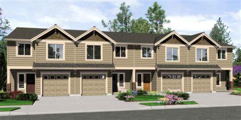 Multi Family Home Floor Plans triplex house plans 4 plex plans quadplex plans