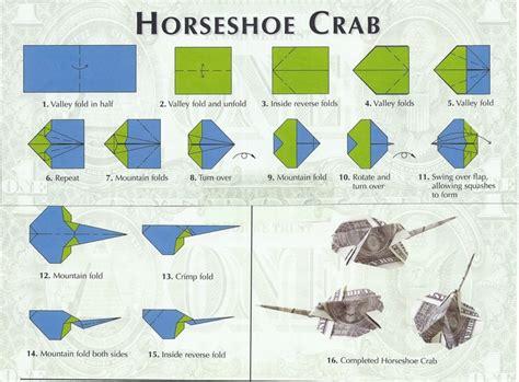 crab origami horseshoe crab money origami horseshoe