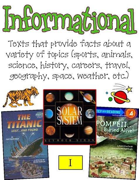 informational picture books genres posters