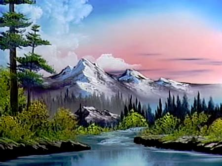 bob ross guest painter hint of springtime the of painting s22e2