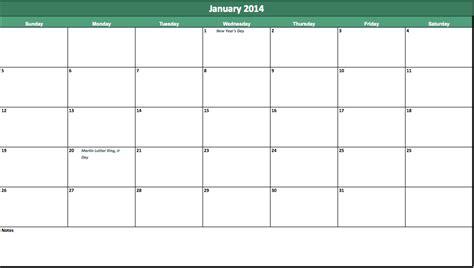 2014 blank monthly calendar autos post