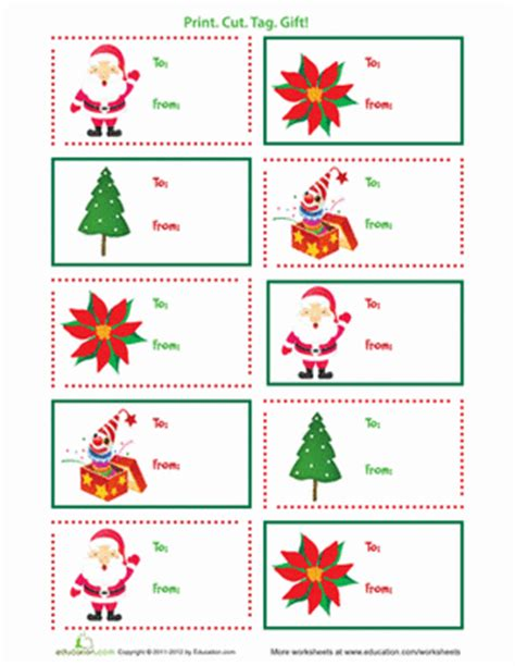 gift labels print free printable gift tags worksheet education