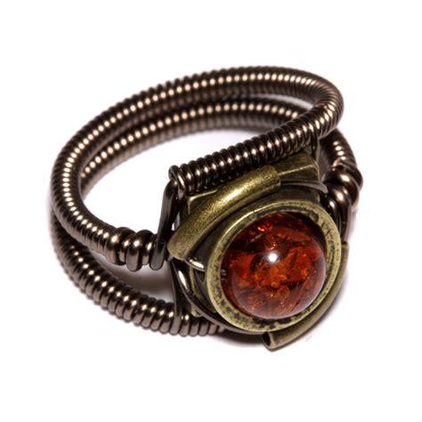brass jewelry steunk jewelry ring antique brass by