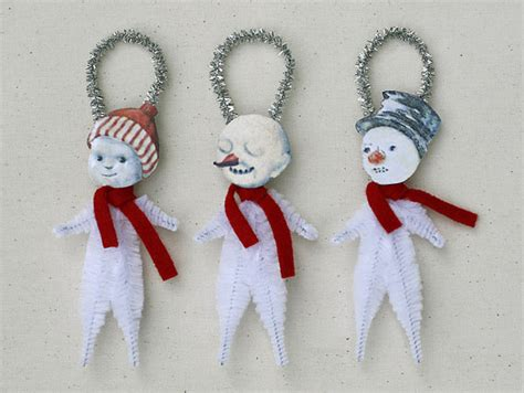 handmade snowman ornaments snowman ornaments handmade ornaments