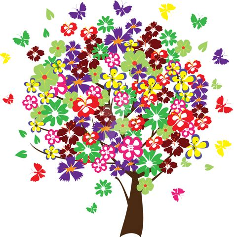 colorful tree colorful tree with butterflies by artbeautifulcloth on