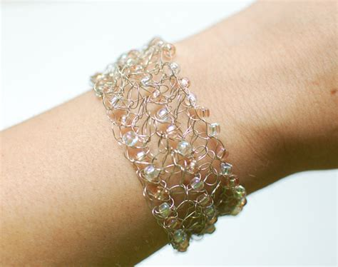 crochet beaded bracelet pattern beaded wire crochet bracelet pattern petals to picots