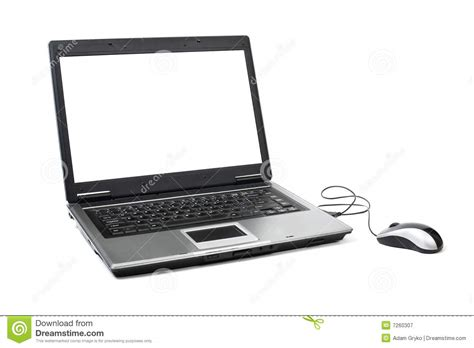 with computer laptop with mouse stock image image of clipping mouse