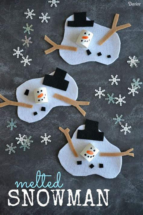 winter craft ideas for best 25 melted snowman ideas on winter crafts