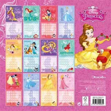 2018 disney princess wall calendar mead new tlm merchandising 2017 littleariel forum