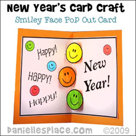 how to make a happy new year card new year s crafts and learning activities for children