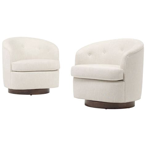 swivel modern chair modern swivel lounge chairs pair at 1stdibs