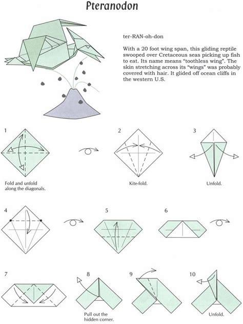 origami easy dinosaur origami pteranodon theme dinosaurs