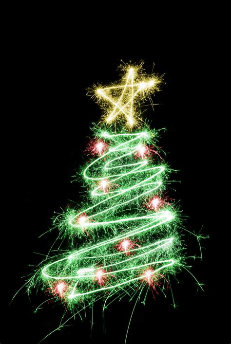 black light tree photo of sparking tree free images