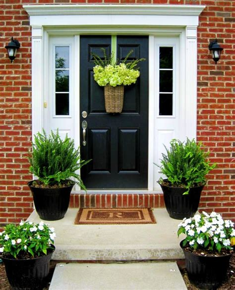 feng shui plants for front door stylish black front doors change your house s curb appeal