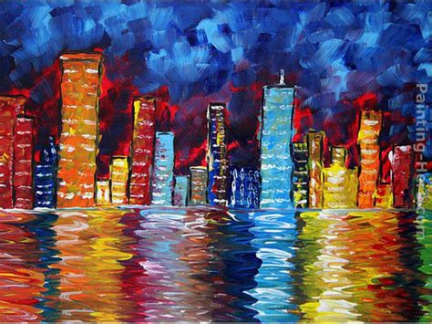 paint nite a island city city paintings www pixshark images galleries