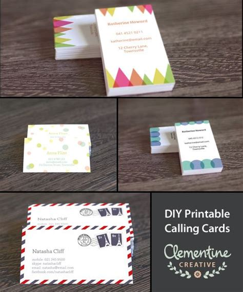 make business cards at home make your own business cards free at home images card