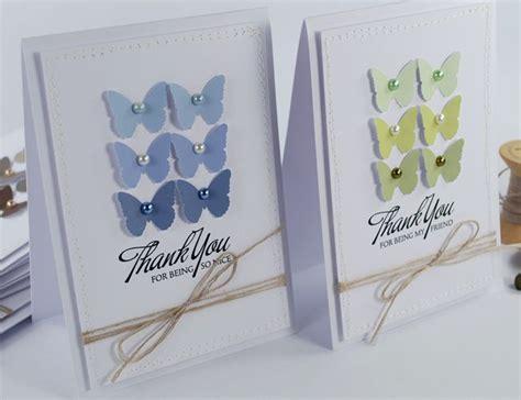 easy to make thank you cards pin by lori stolaski on card ideas