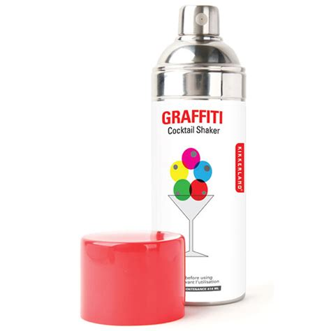 spray paint shake graffiti spray paint can cocktail shaker the green