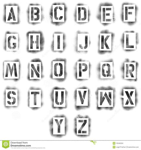 spray paint font numbers stencils in spray paint stock illustration image of