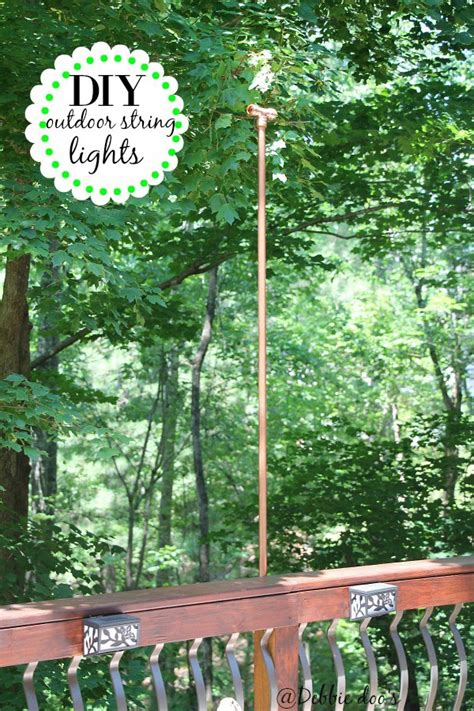 string lights diy diy hanging outdoor string lights debbiedoos