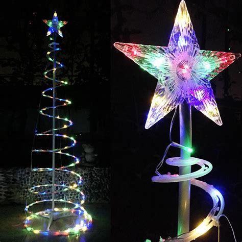 spiral lighted tree 6 color changing led spiral tree lights outdoor indoor
