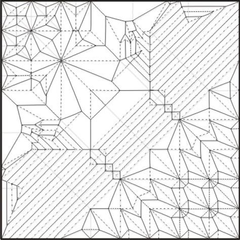 origami ancient pdf origami ancient crease pattern www pixshark