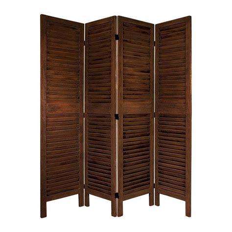 privacy screens room dividers shop furniture room dividers 4 panel burnt brown