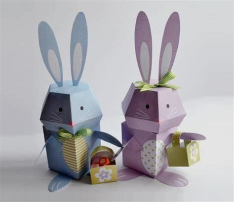 easter paper crafts free 2 easter bunny papercrafts free templates