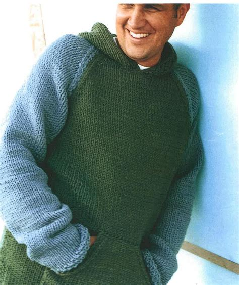 mens knitting patterns mens and boys hooded sweater knitting pattern pdf by