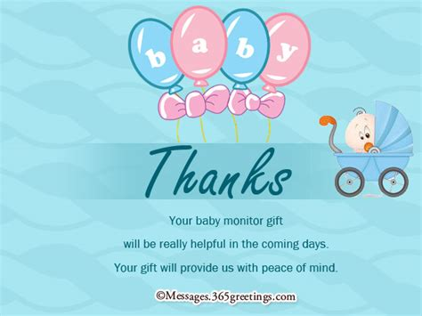 Message For Baby Shower Thank You Cards by Baby Shower Thank You Notes 365greetings Com