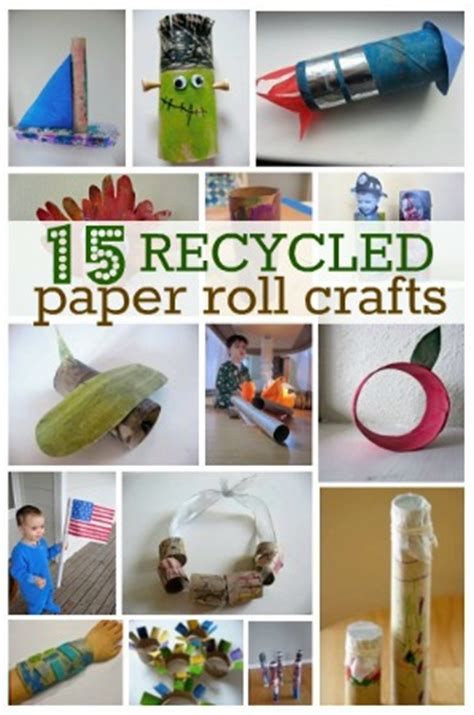recycle toilet paper rolls crafts reduce reuse recycled robot