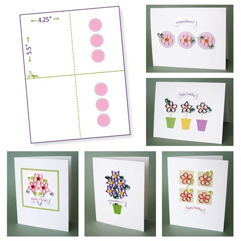 printable papers for card quilling flower pattern update crafting creatures