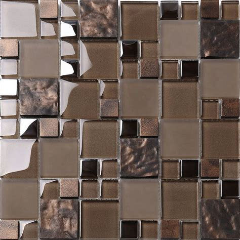 kitchen backsplash mosaic tile brown glass mosaic kitchen backsplash tile 12 quot x 12